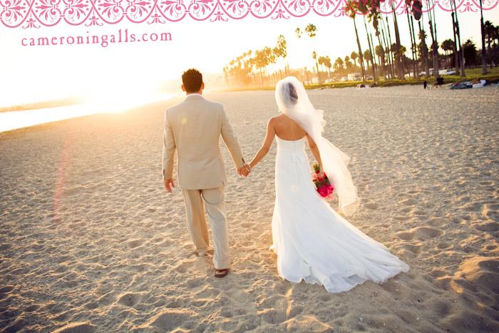 Fess Parker Double Tree Resort, Santa Barbara beach wedding photographs of Derek Daugherty + Shelly Fox taken by Cameron Ingalls