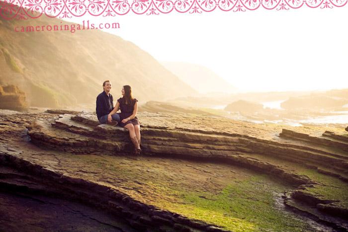 Montana de Oro engagement photographs of Ellie Spindler + JC Fulbeck taken by Cameron Ingalls