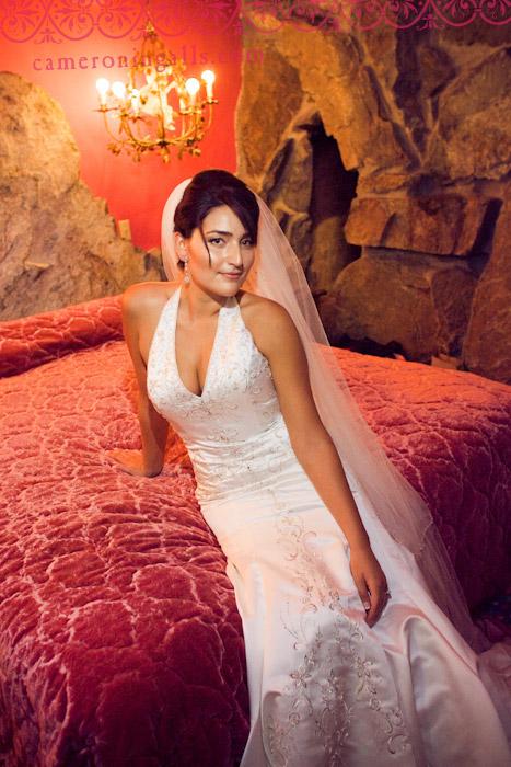 Madonna Inn, San Luis Obispo, wedding photographs of Adriana + Steve taken by Cameron Ingalls