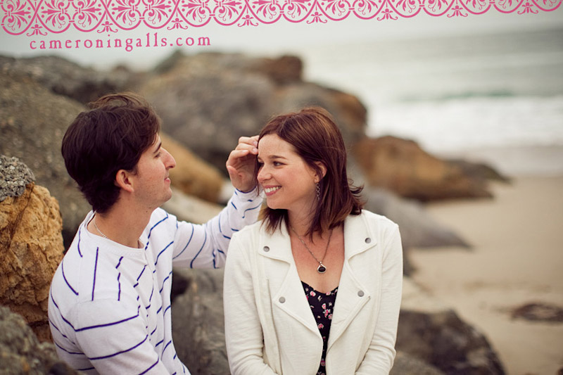 Venice Beach engagement photographs of Jennifer Worthington + Nick Borges taken by Cameron Ingalls