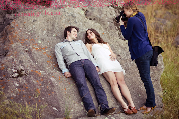 Engagement pictures of Marisa + Pelt taken for Cameron Ingalls' Fall in Love… Wedding Photography Workshop!