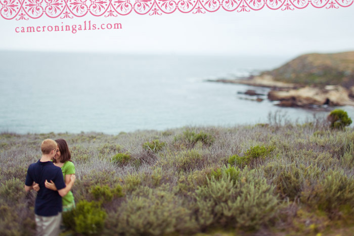 engagement pictures of Marisa and Sean taken at Montana de Oro by Cameron Ingalls