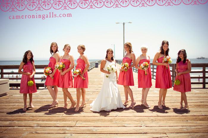 wedding pictures of Brandon + Erin taken by Cameron Ingalls at Avila Beach, CA