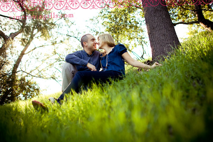 Nicki and J's engagement session in Hollywood by California wedding photographer Cameron Ingalls