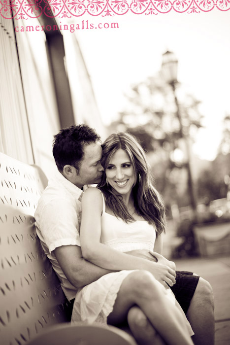 Santa Barbara, engagement photographs of Shelly + Derek taken by Cameron Ingalls