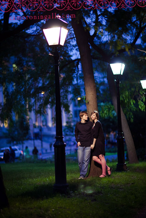 Montreal, Canada engagement pictures of Valerie and Witek shot by Cameron Ingalls