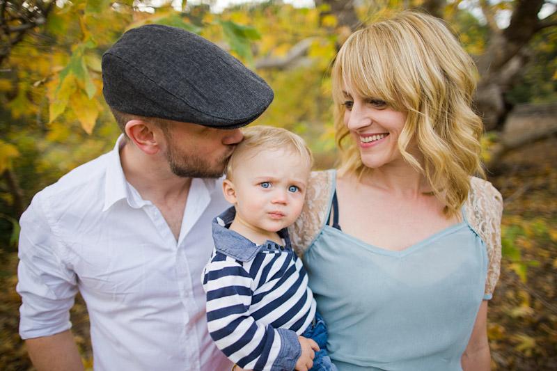 Hudson Family Bishops Peak Dad kissing son