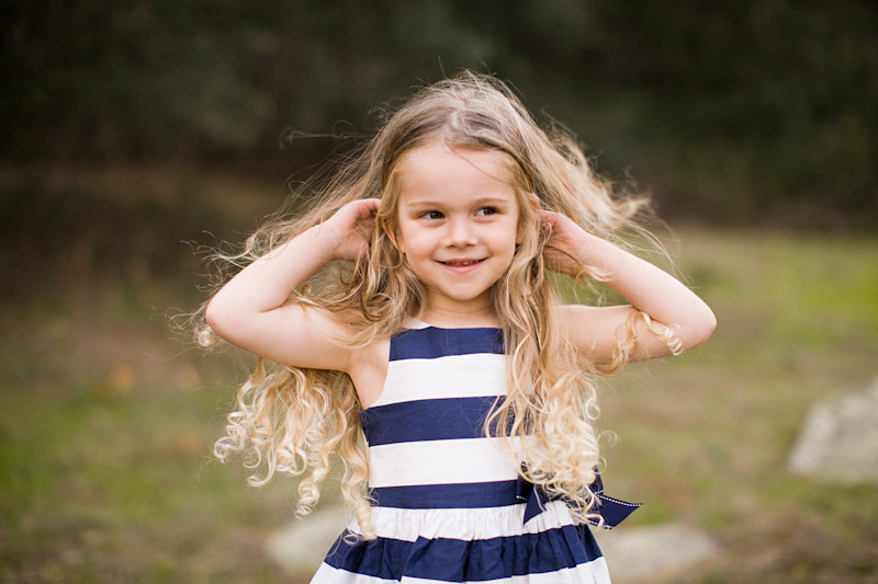 Little curly blonde girl on Bishops Peak