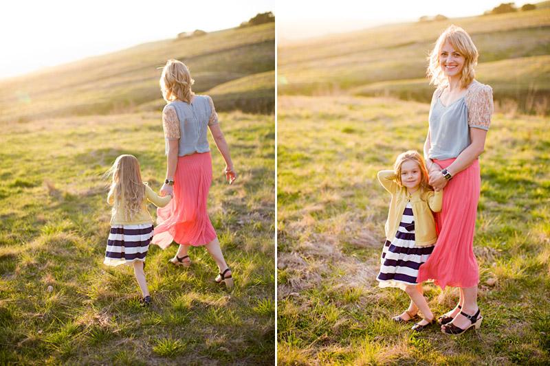 Mother and daughter at bishops peak