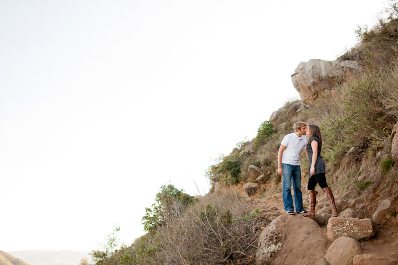 Couple kissing on Bishops Peak