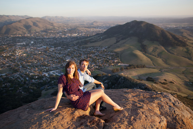 Cal Poly Couple on Top of Bishops Peak