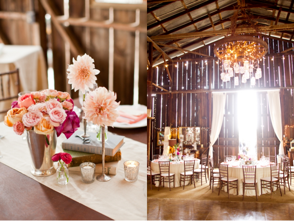 Central Coast Wedding Reception at the Dana Powers Barn
