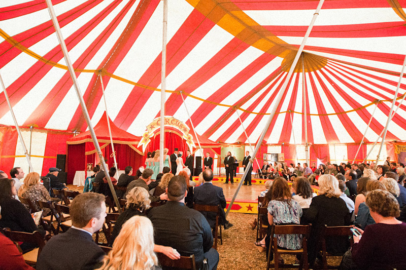 Ventura county  wedding under vintage circus tent 2 of 3