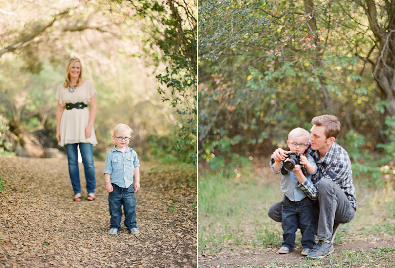 Central Coast family portraits, Anna, Asher, and Cameron Ingalls with his grandpa's camera.