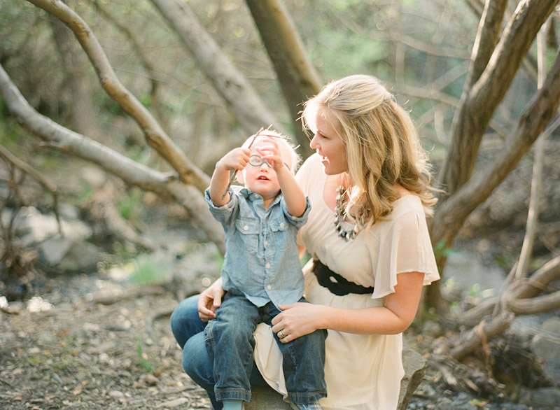 Central Coast family portraits, Mother and Son in Creek (1 of 2)
