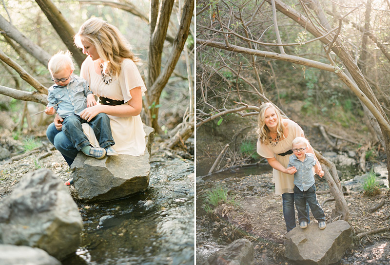 Central Coast family portraits, Mother and Son in Creek (2 of 2)