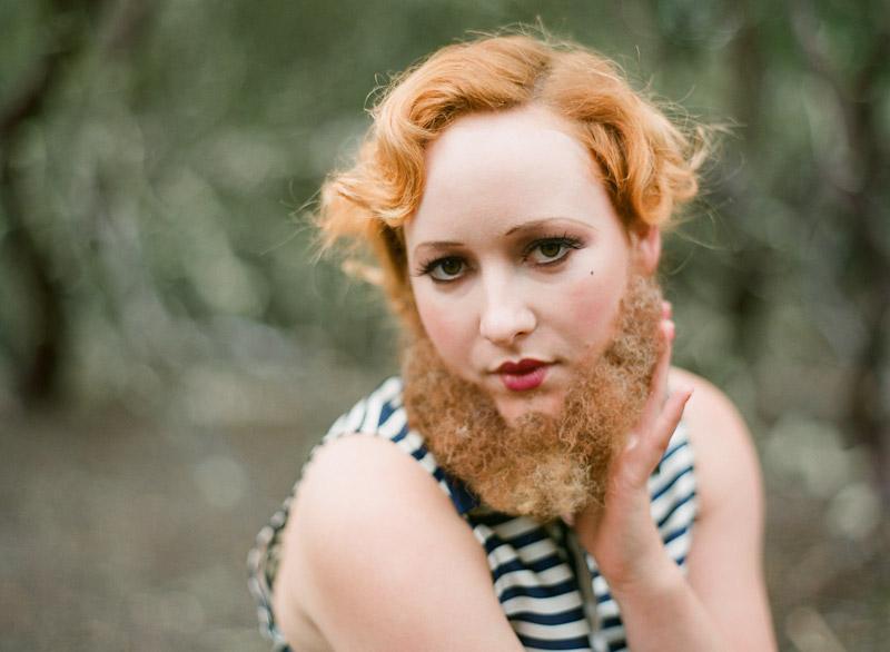 Central Coast Circus Freak Show Blue Bird Salon bearded lady (1 of 4)