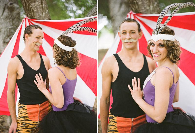 Loriana Ranch, San Luis Obispo Vintage Circus Freak Show Blue Bird inspiration shoot of acrobat couple (2 of 2)