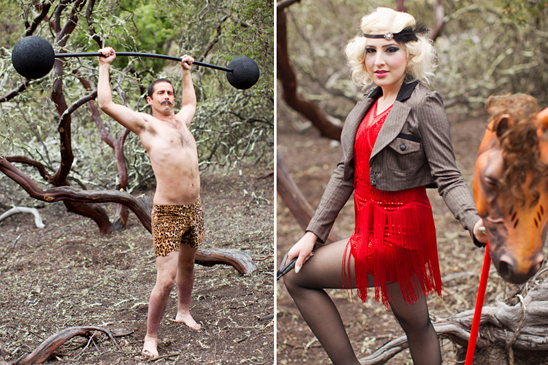 Central Coast Circus Freak Show Blue Bird Salon strong man and horse tamer (2 of 6)