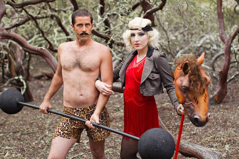 Central Coast Circus Freak Show Blue Bird Salon strong man and horse tamer (3 of 6)