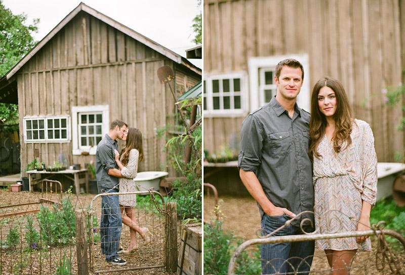 Santa Margarita, engagement photos of couple in garden at Educated Gardner Nursery