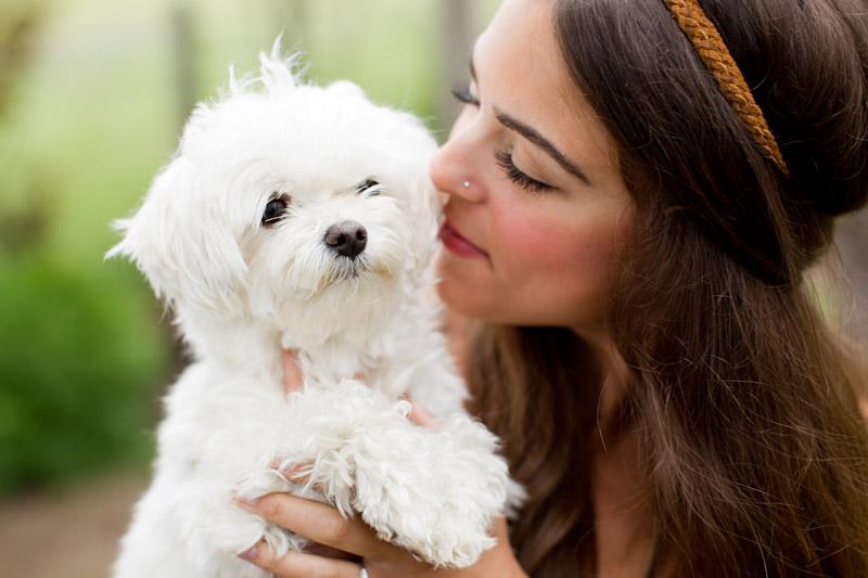 Santa Margarita Ranch, engagement photos of girl and her dog