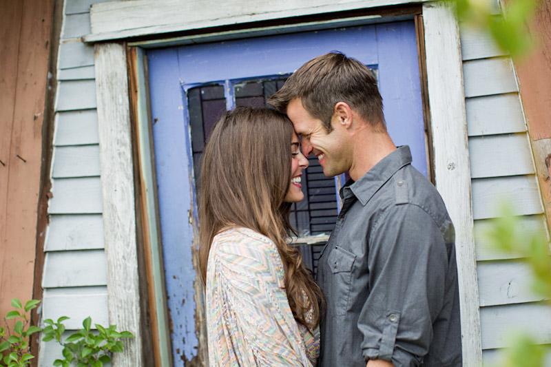 Santa Margarita, engagement photos of couple in front of purple door at Educated Gardner Nursery (2 of 2)