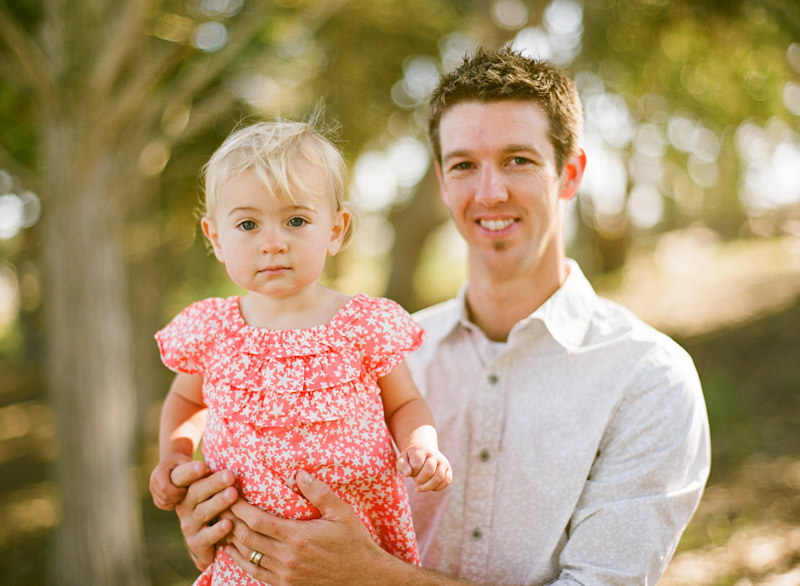 Los Osos Family Photography, portrait of father and young daughter