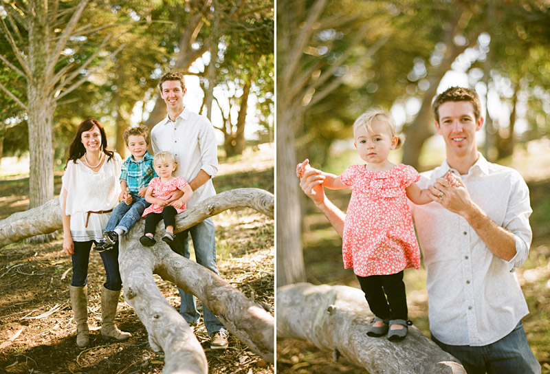 Los Osos Family Photography, portrait of father and young daughter, with whole family