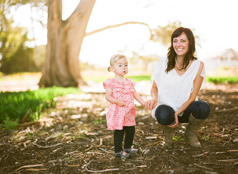 Los Osos Family Photography, portrait of mother and young daughter
