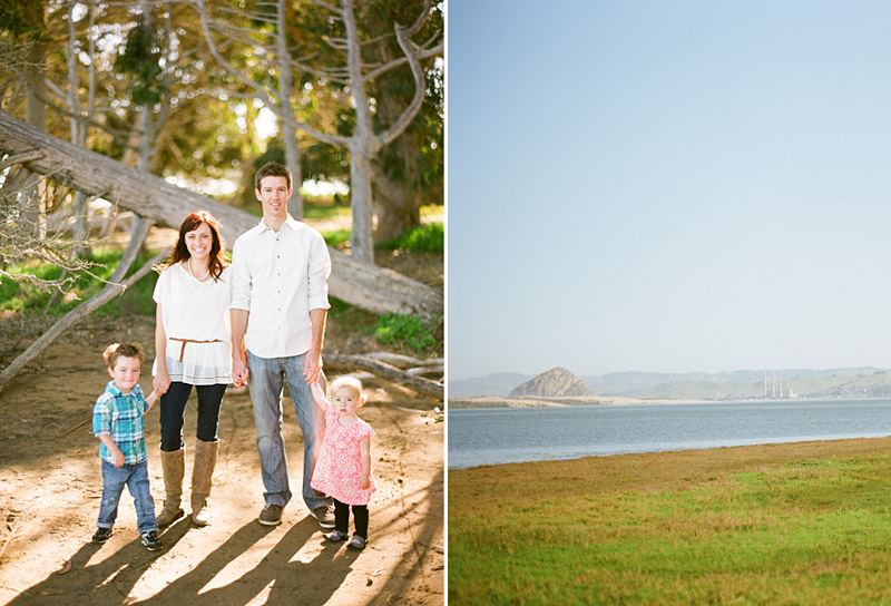 Los Osos Family Photography, portrait of family and the bay