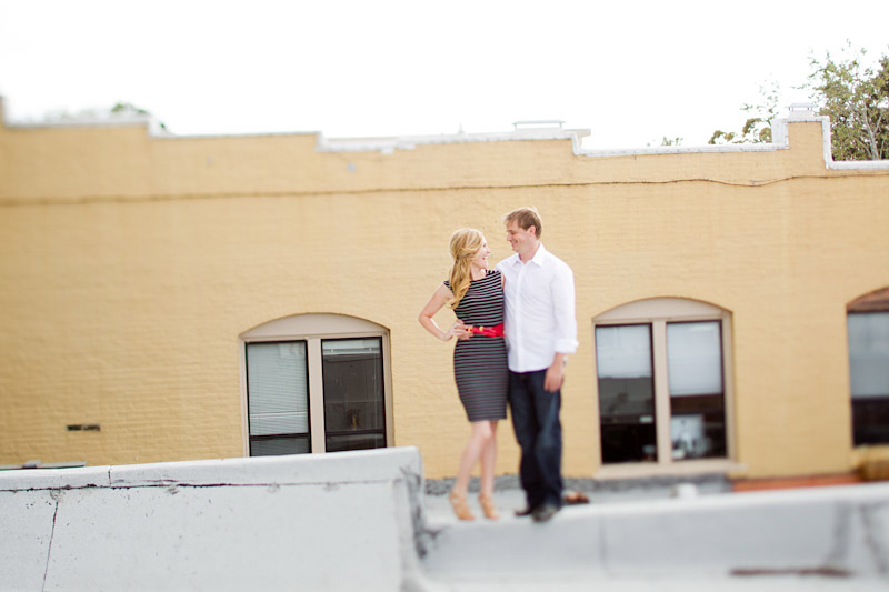 san luis obispo engagement session of couple on a roof (3 of 4)