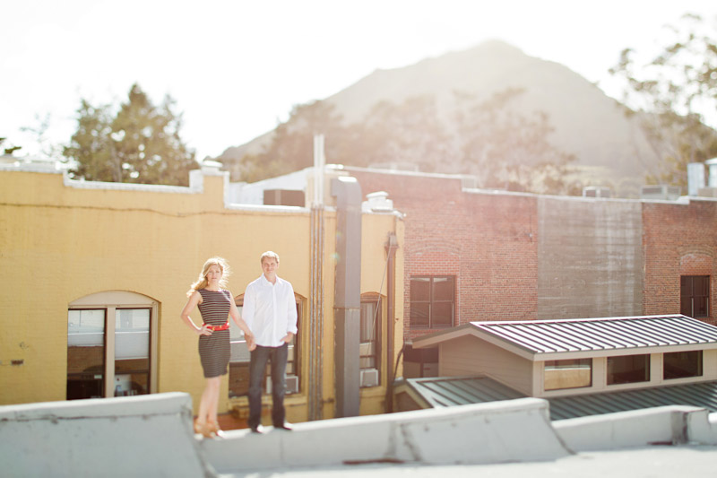 san luis obispo engagement session of couple on a roof (1 of 4)