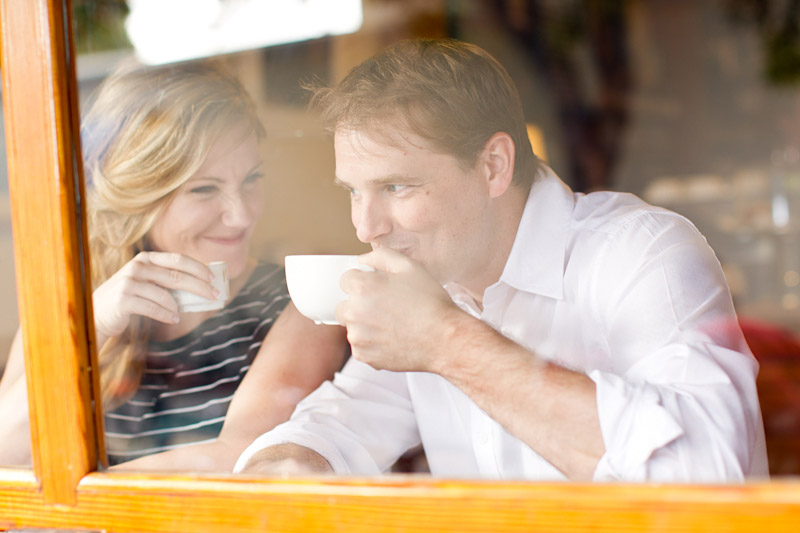 san luis obispo engagement session of couple at a coffee shop (1 of 4)