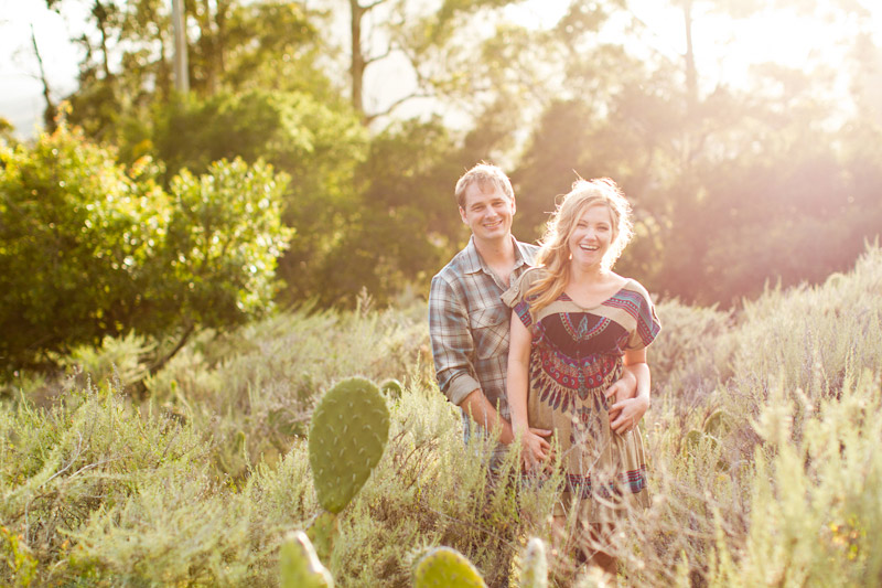 san luis obispo engagement session of couple at in a field (5 of 5)