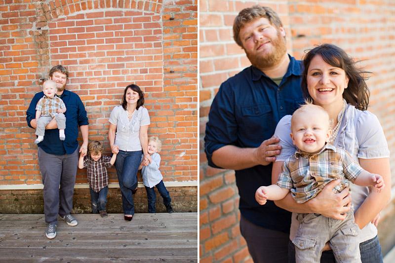 San Luis Obispo family portraits in downtown SLO of the covington family