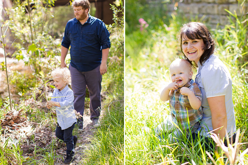 San Luis Obispo family portraits at the creek in downtown (2 of 3)