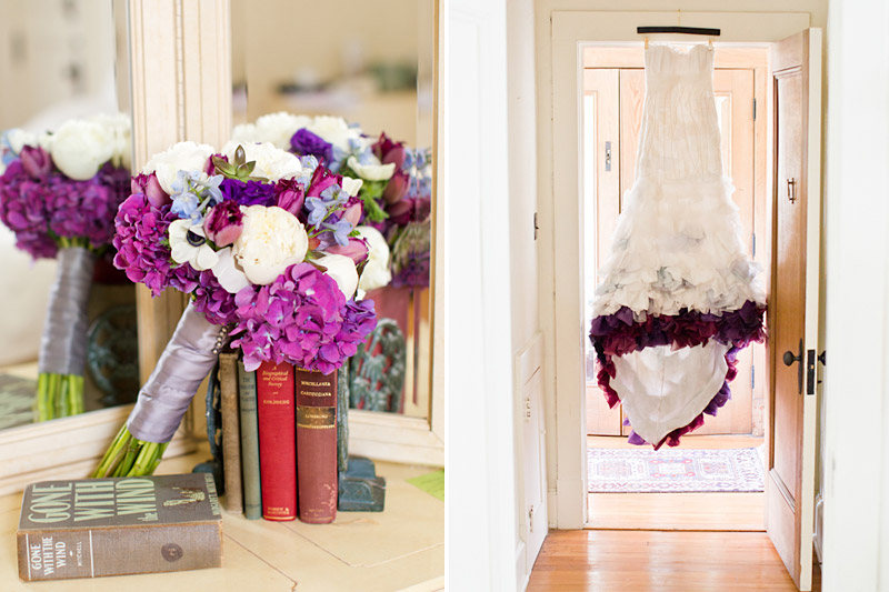 Virginia wedding photography bridal gown and bouquet