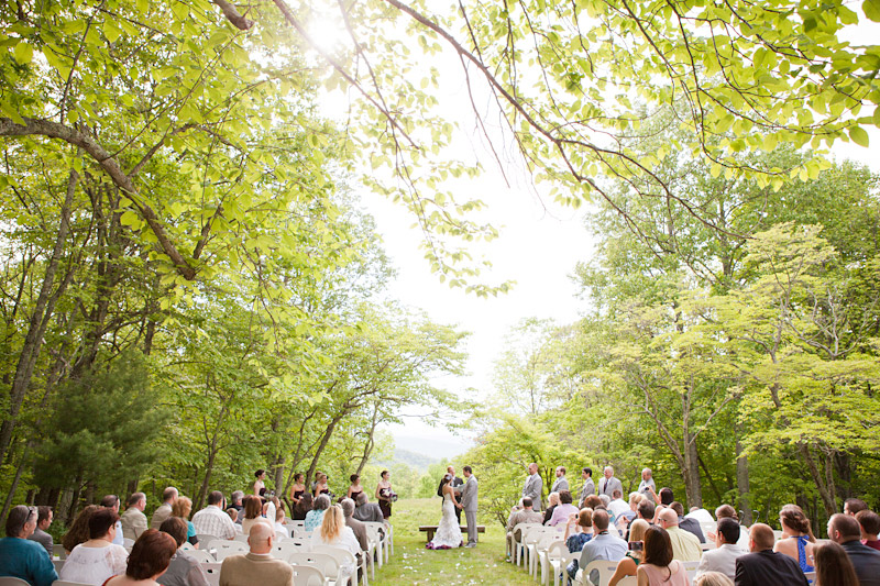 Virginia wedding photography of wedding ceremony in the forest
