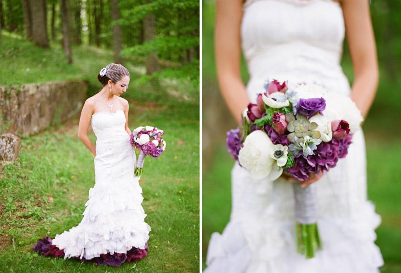Virginia wedding photography of bride and boquet