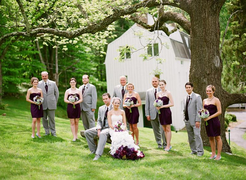 Virginia wedding photography of bridal party