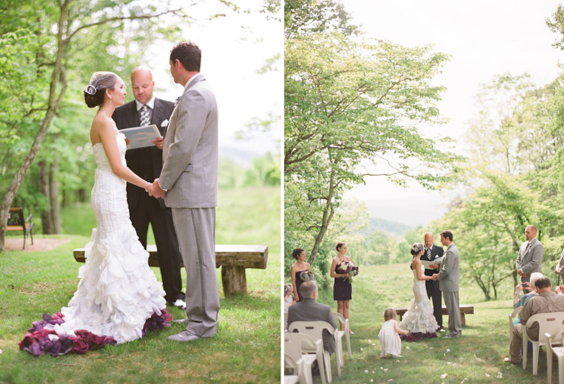 Virginia wedding photography of wedding ceremony in the forest (2 of 2)