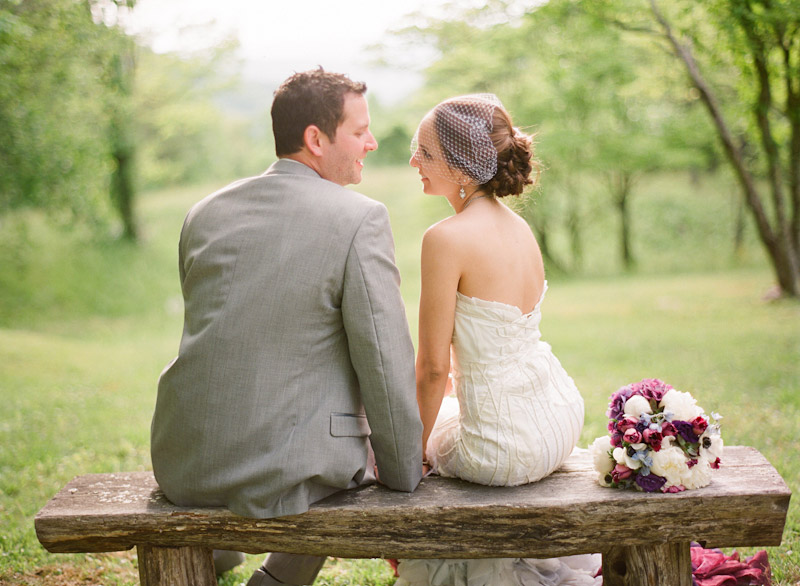 Virginia wedding photography portraits of the couple in a forest