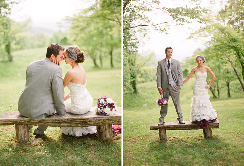 Virginia wedding photography portraits of the couple in a forest (2 of 2)