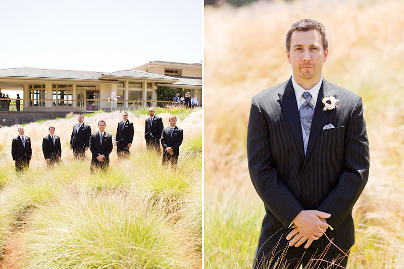 san luis obispo wedding photography of the groom and his groomsmen