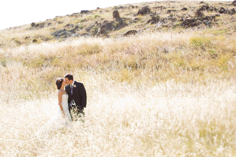 San luis obsipo wedding photography of a couple in a field with beautiful light (1 of 5)
