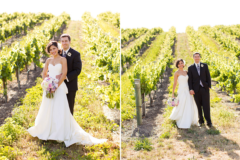 San luis obsipo wedding photography of a couple in a vineyard  (1 of 2)