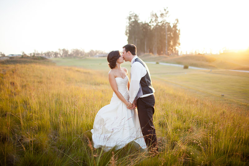 central coast wedding photography couple in a field at sunset (1 of 4)