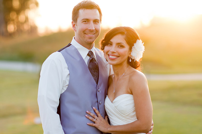central coast wedding photography couple in a field at sunset (2 of 4)