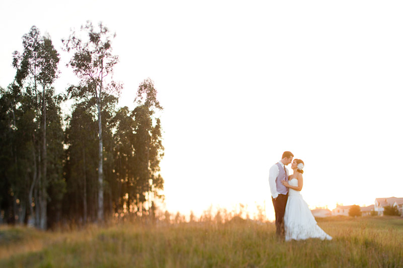 central coast wedding photography couple in a field at sunset (3 of 4)